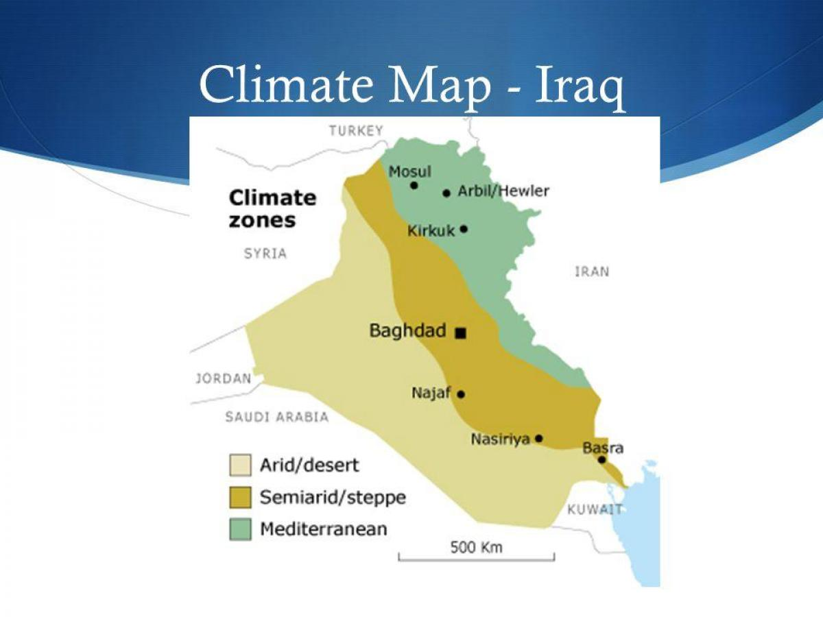 Map of Iraq climate
