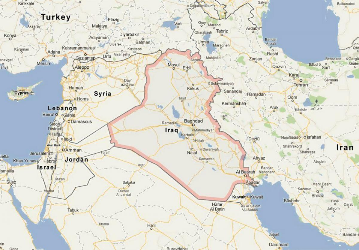 Map of Iraq - Map of Iraq (Western Asia - Asia)