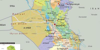 Iraq cities map