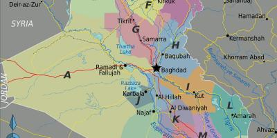 Map of Iraq regions